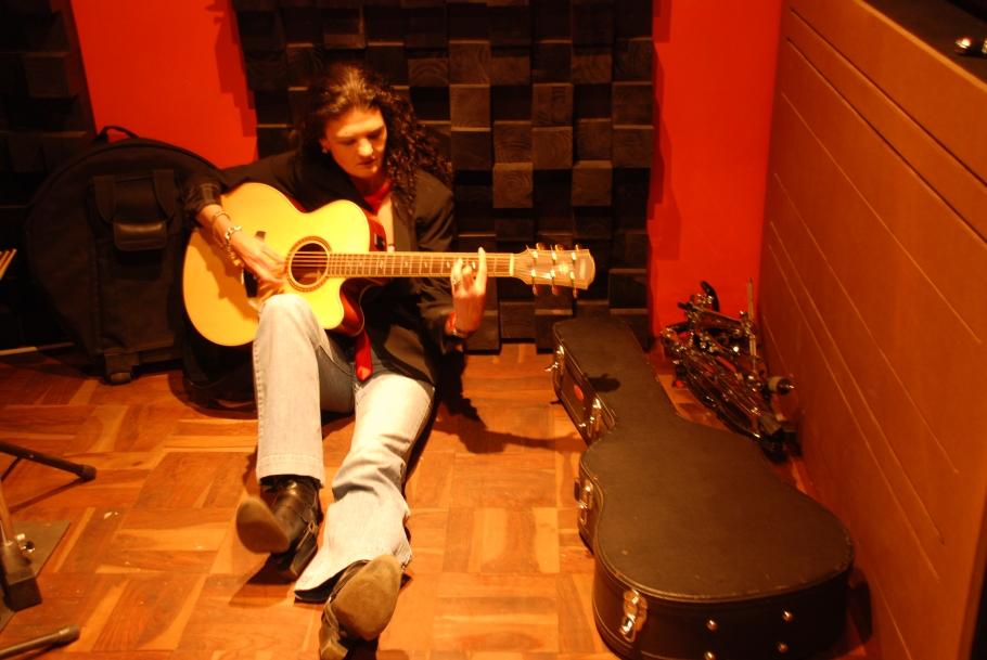 Crimson Chrysalis in studio