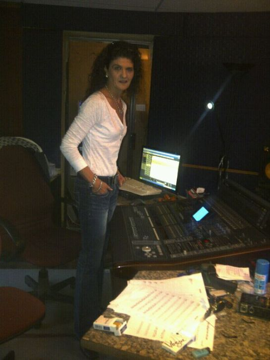 Recording the strings of the album @ The Pakistani Boarding House
